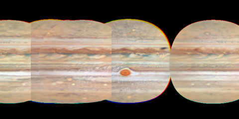 Cylindrical Map of Jupiter