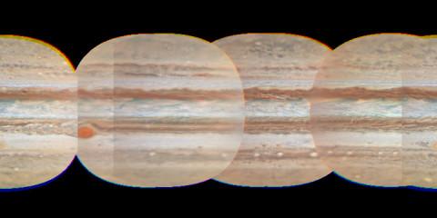 Cylindrical Map of Jupiter